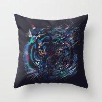 fierce Throw Pillows featuring FIERCE by dan elijah g. fajardo