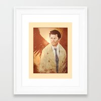 castiel Framed Art Prints featuring Castiel by Vaahlkult