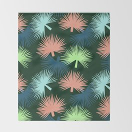 oversized palms Throw Blanket
