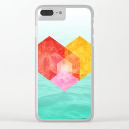 Heart of the sea Clear iPhone Case