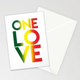One Love Rasta Reggae Rastafari Music Lovers Gift Stationery Cards