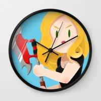 buffy Wall Clocks featuring Little Warriors: Buffy by Inu Store