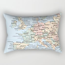 World Map Europe Rectangular Pillow