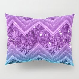 Unicorn Glitter Chevron #3 #shiny #decor #art #society6 Pillow Sham