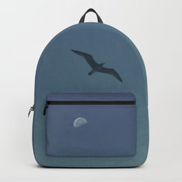 The seagull and the moon Backpack