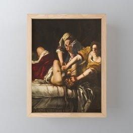 JUDITH BEHEADING HOLOFERNES - GENTILESCHI Framed Mini Art Print
