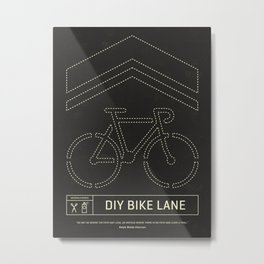 DIY Bike Lane Metal Print