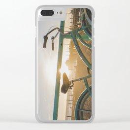 Bike & Beach in Sunny Manhattan Beach, California Clear iPhone Case
