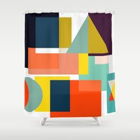 geo Shower Curtains featuring Geo by Mr and Mrs Quirynen