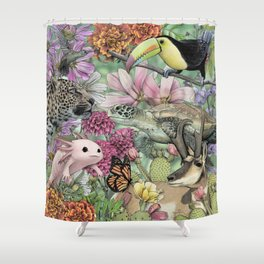 Flora and Fauna of Mexico Shower Curtain