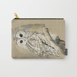 Sepia Owl Carry-All Pouch