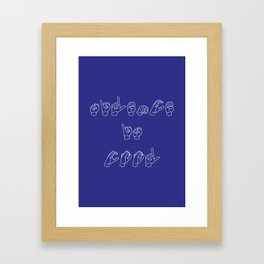 Silence is cool  Framed Art Print