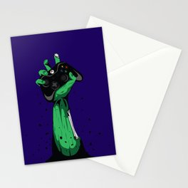 Zombie Gamer Stationery Cards