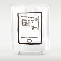 text Shower Curtains featuring Text by itishazel