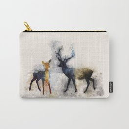 HP Patronus Stag And Doe Watercolor Carry-All Pouch