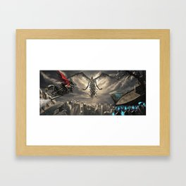 God in an Apocalypse Framed Art Print