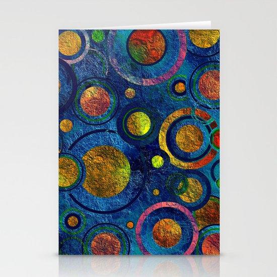 Full of Golden Dots - color variation Stationery Cards