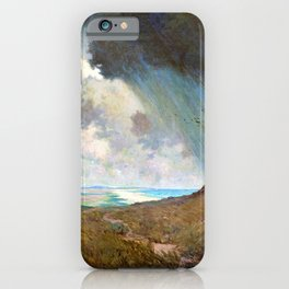 Granville Redmond - Coastal storm - Digital Remastered Edition iPhone Case