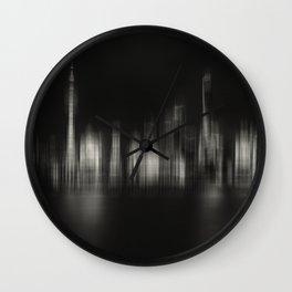 Shanghai Skyline IV Wall Clock