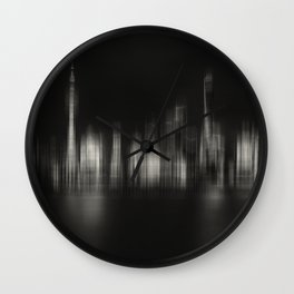 Shanghai Skyline IV Wall Clock