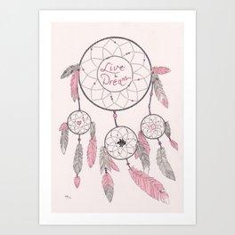 Dream Catcher in Pink Art Print