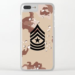 Sergeant Major (Desert Camo) Clear iPhone Case