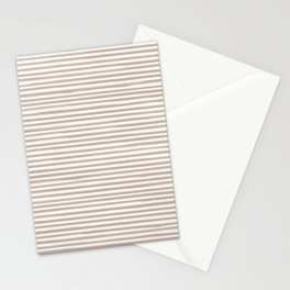 Skinny Stroke Horizontal Nude on Off White Stationery Cards