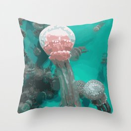 Spotted Jellies Throw Pillow