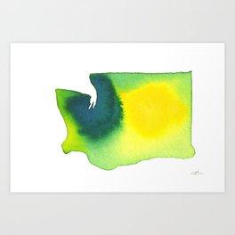 Washington Green Art Print