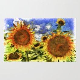 Sunflowers Vincent Van Goth Rug