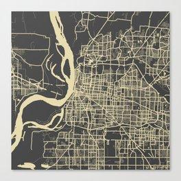 Memphis map Canvas Print