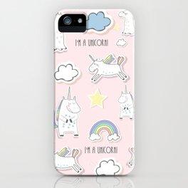 I'm a Unicorn - light pink iPhone Case