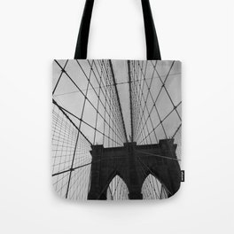 Brooklyn Bridge Black and White Tote Bag