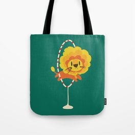 Lion hopped through a loop Tote Bag