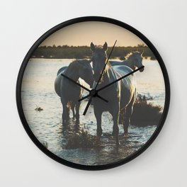 Camargue Horses III ... Wall Clock