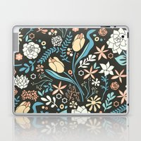 Tulip flowerbed, blue Laptop & iPad Skin