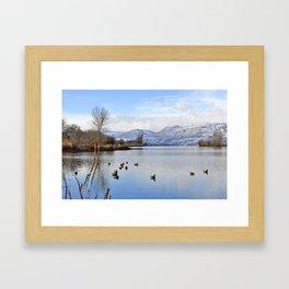Columbia River In Winter Framed Art Print