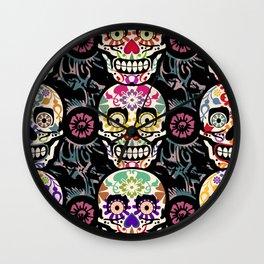 Happy calaveras Wall Clock