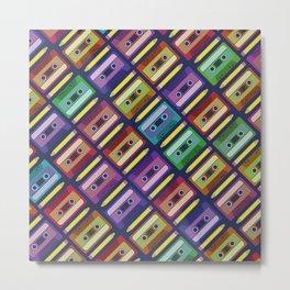 90s pattern Metal Print