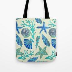 Blue Seashells Tote Bag