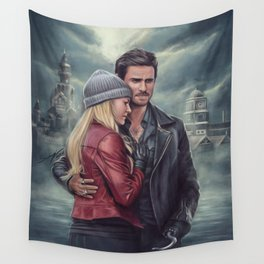 The Pirate and the Savior Wall Tapestry