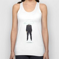 risa rodil Tank Tops featuring Head in the Cloud by Vin Zzep