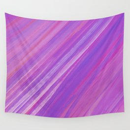 Acrylic brush strokes background - purple and pink Wall Tapestry