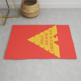 i am fire and life incarnate now and forever i am dark phoenix Rug