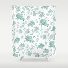green roses Shower Curtain
