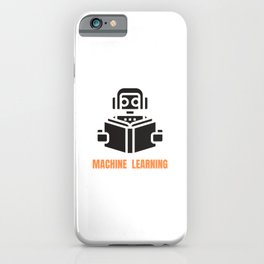 Machine Learning robot iPhone Case