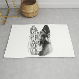 German Shepherd Quote Text Rug
