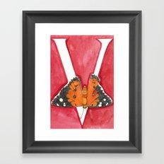 V is for Vanessa Tameamea Framed Art Print