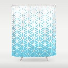 Sacred Geometry Blue Shower Curtain
