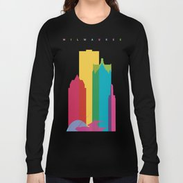 Shapes of Milwaukee. Accurate to scale Long Sleeve T-shirt